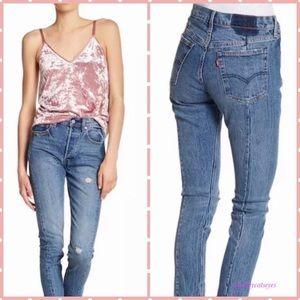 Levi's 501 Altered Skinny Jeans 28 x 30 frayed hem